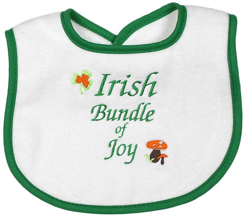 Neutral Baby Gifts Ireland : Quot irish bundle of joy unisex bib raindrops baby