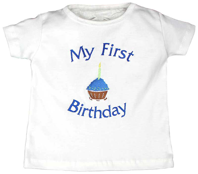 My First Birthday Boy T Shirt Royal