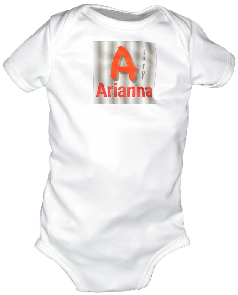 N is for Name Personalized Body Suit, Red