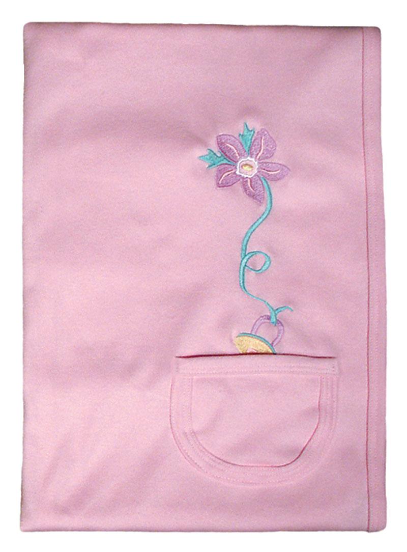 Pacifier Pocket Girl Receiving Blankt