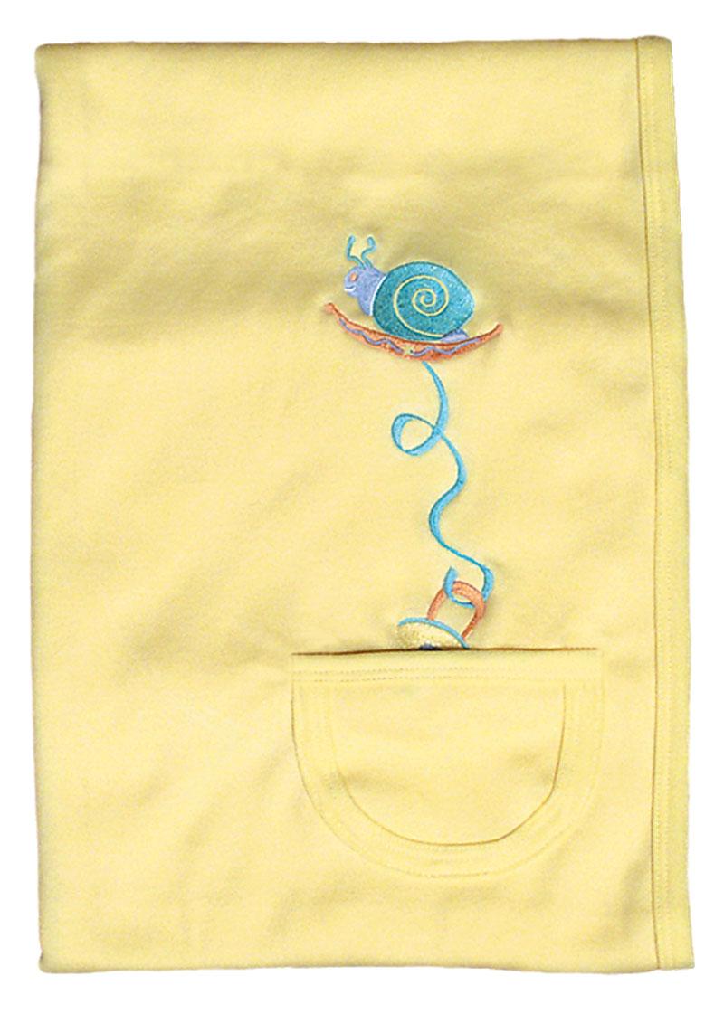 Pacifier Pocket Unisex Receiving Blanket