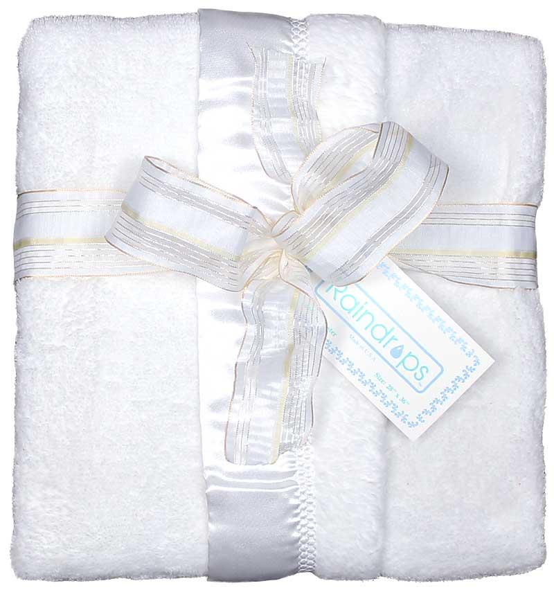 White Flurr Unisex Receiving Blanket