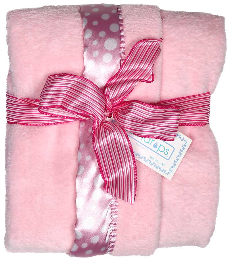 Pink Dot Flurr Girl Receiving Blanket