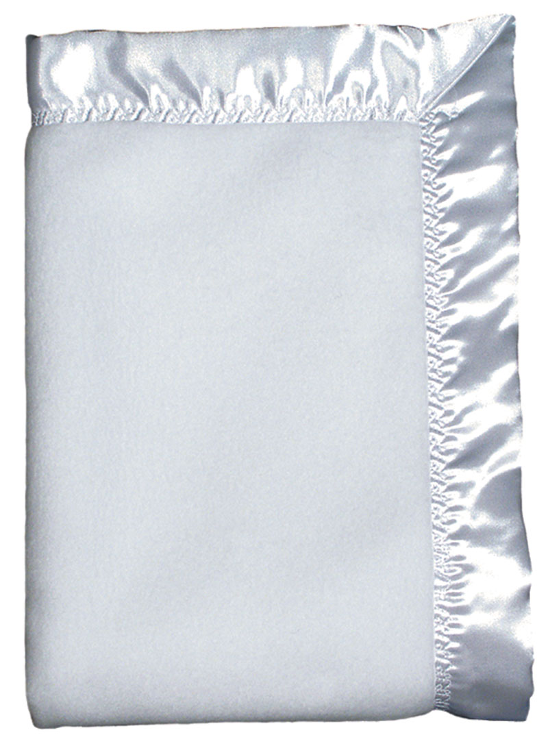 White Fleece Unisex Crib Blanket