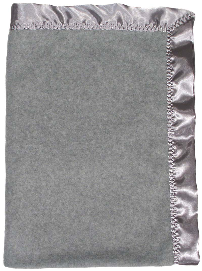 R1404 Gray Heather Fleece Crib Blanket