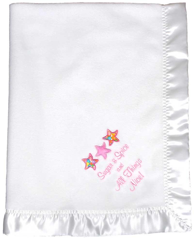 Design Your Own White Girl Baby Blanket