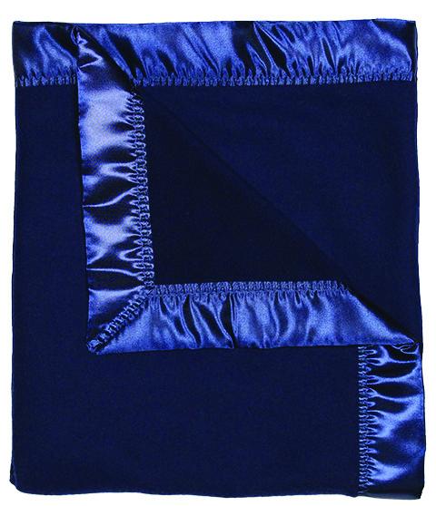 Navy Fleece Unisex Receiving Blanket