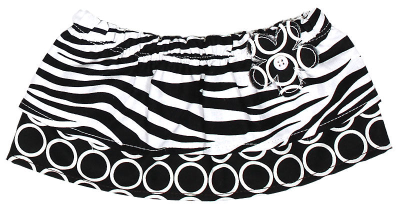 Black Zebra Tummy Tutu