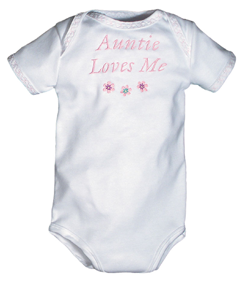 """Auntie Loves Me"" Girl Body Suit"