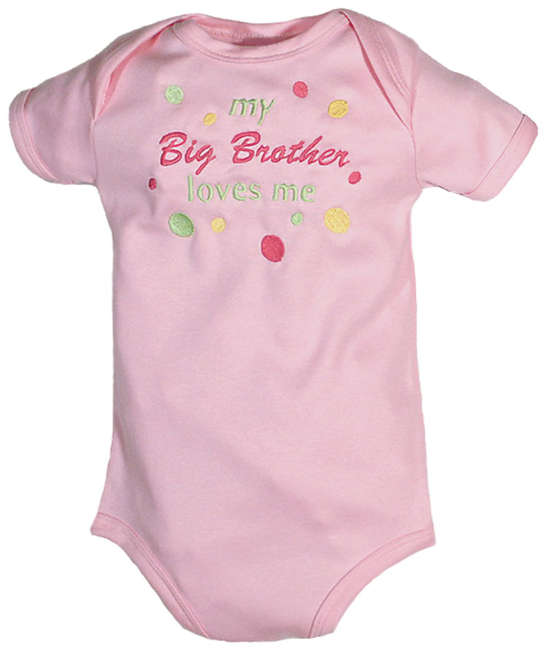 """My Big Brother Loves Me"" Girl Body Suit"