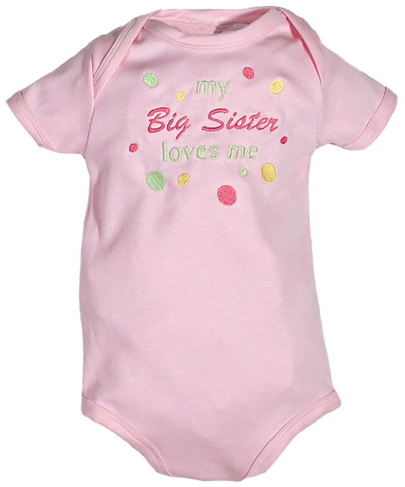 """My Big Sister Loves Me"" Girl Body Suit"