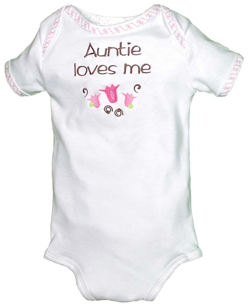 """Auntie Loves Me"" Girl Body Suit"
