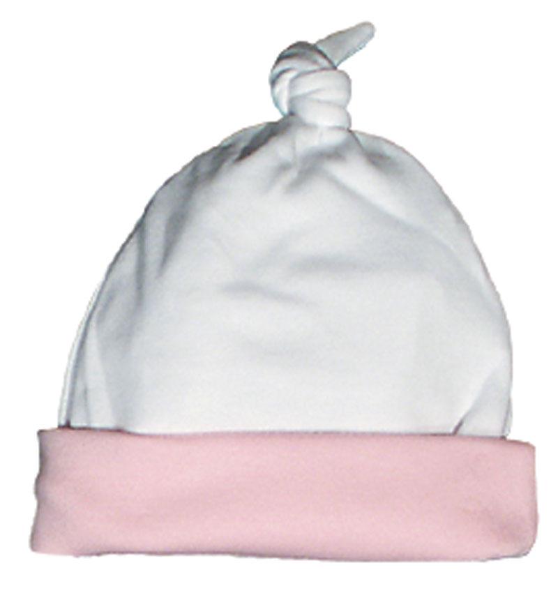 White/Pink Cotton Girl Cap