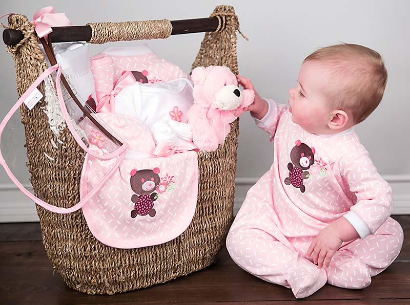 Welcome Home Baby Girl Large Gift Set Raindrops Baby