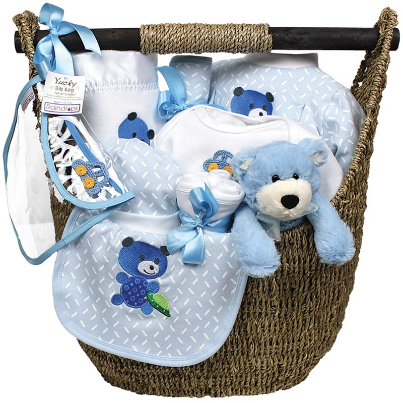 Welcome Home Baby Large Boy Gift Set