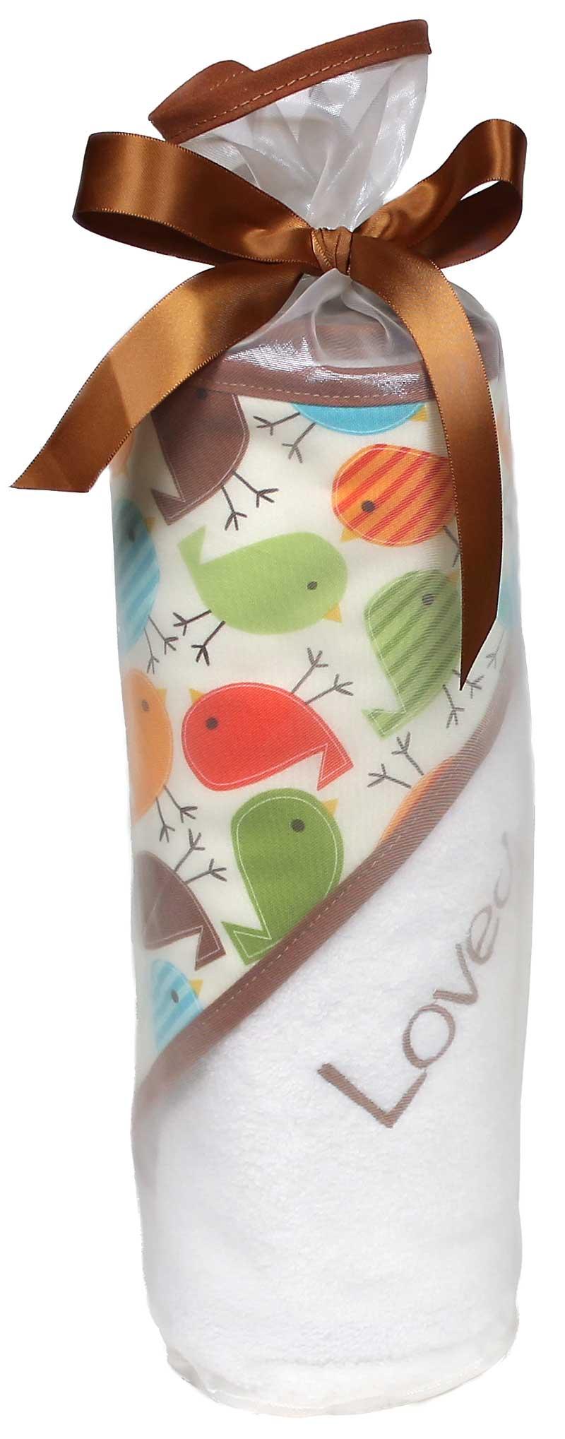 """""""Loved"""" Birds Towel Boy Gift Set"""
