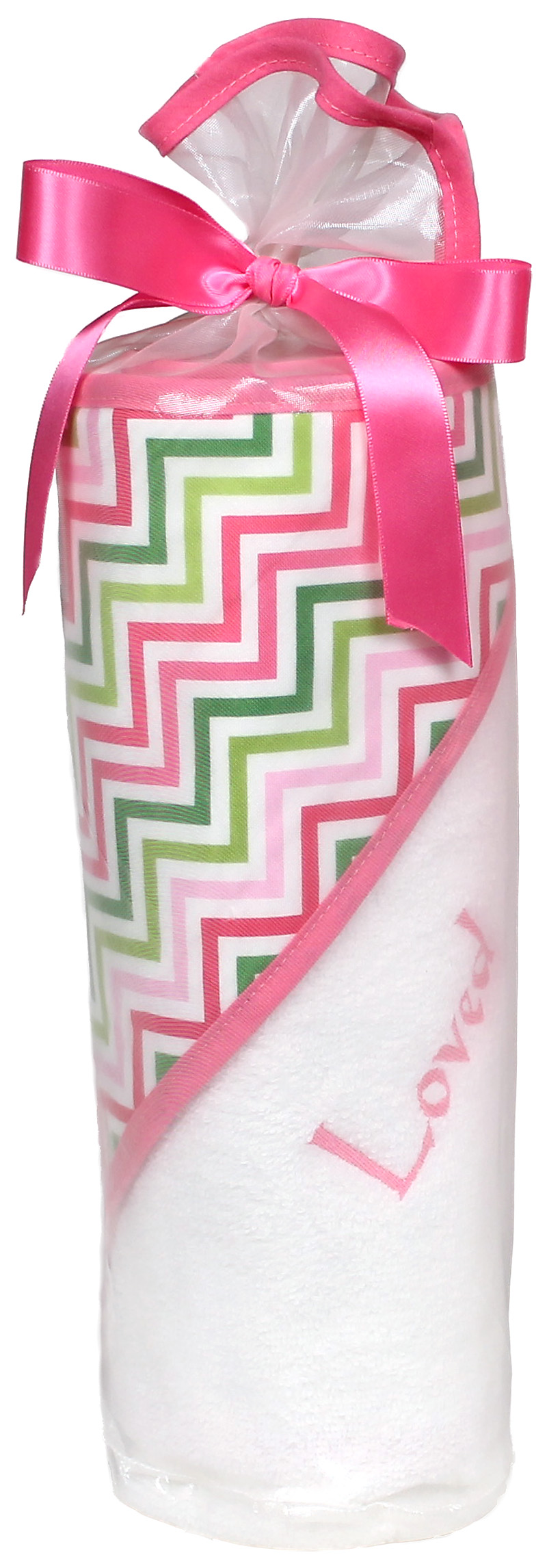 """Loved"" Multi Chevron Towel Girl Gift Set"