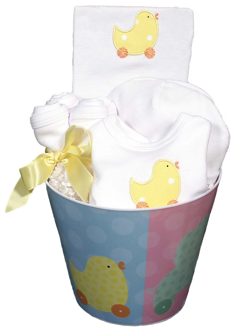 Neutral Baby Gift Sets : Unisex duck accessory baby gift set raindrops