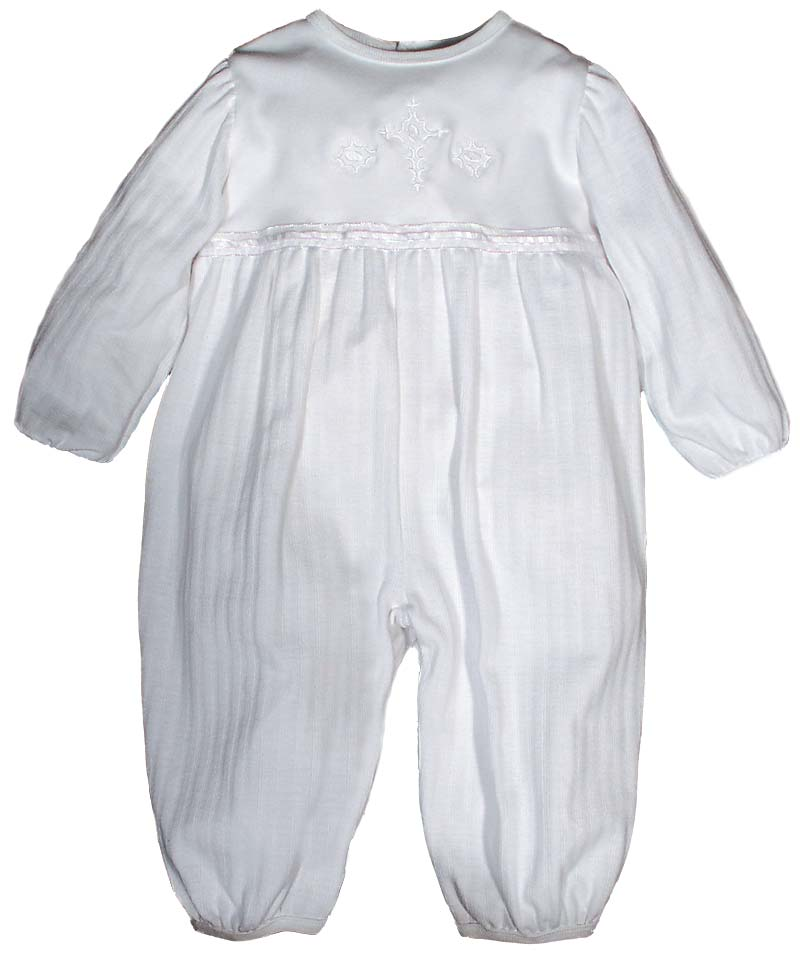 Opal Christening Party Girls Coverall - long sleeve