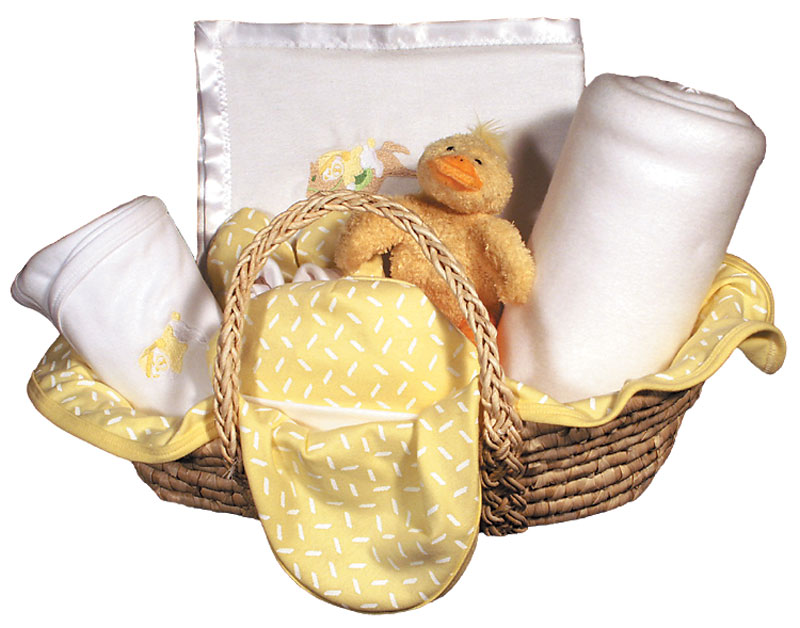 Sleepy Time Bear Moses Basket Blanket Unisex Gift Set