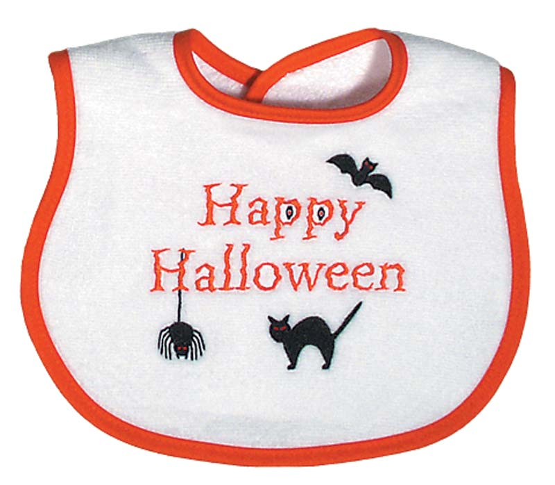 """""""Happy Halloween"""" Unisex Bib"""