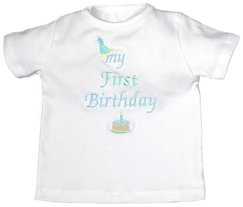 """My First Birthday"" Boy T-Shirt, Blue"