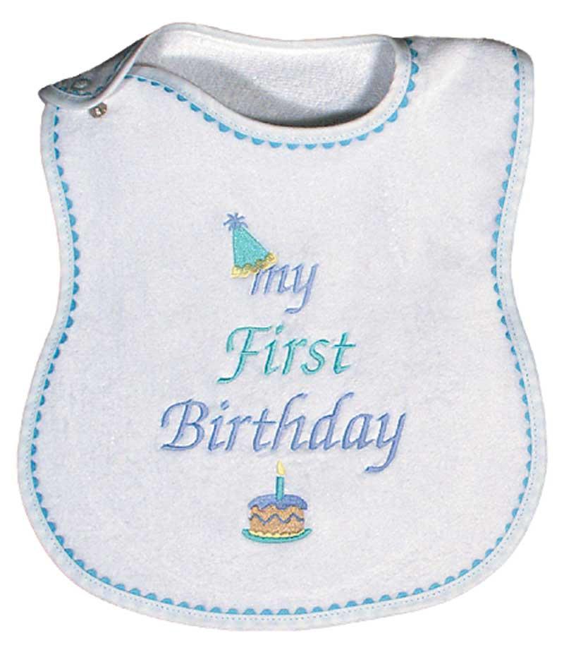 """My First Birthday"" Boy Bib"