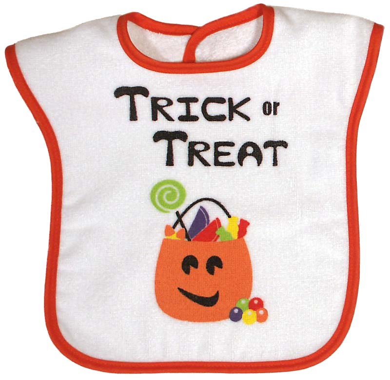 """Trick or Treat"" Unisex Bib"