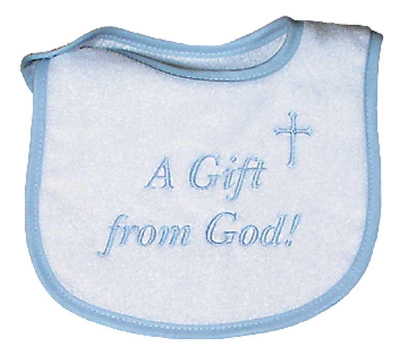 """""""A Gift from God"""" Boy Bib"""