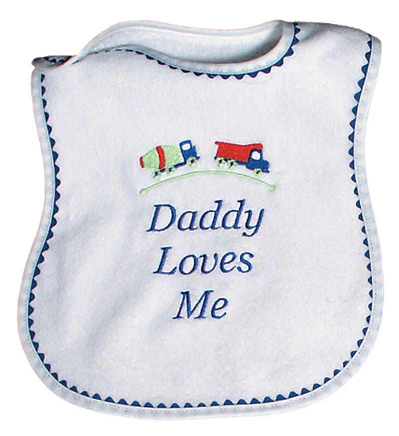 """""""Daddy Loves Me"""" Boy Bib"""