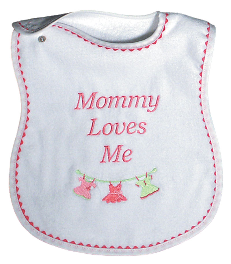 """Mommy Loves Me"" Girl Bib"