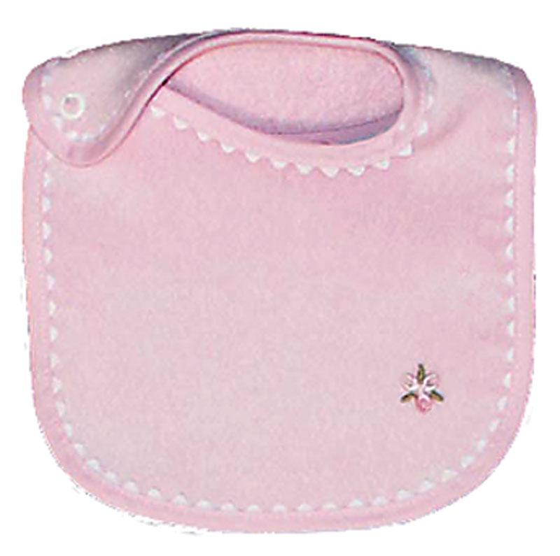 Appliqued Pink Girl Bib