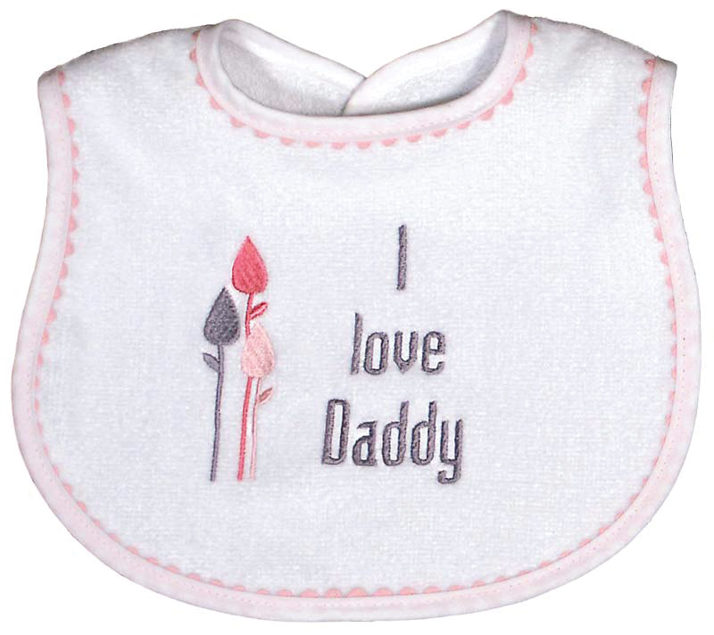 """I love Daddy"" Girl Bib"