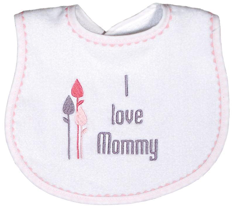 """""""I love Mommy"""" Girl Bib"""