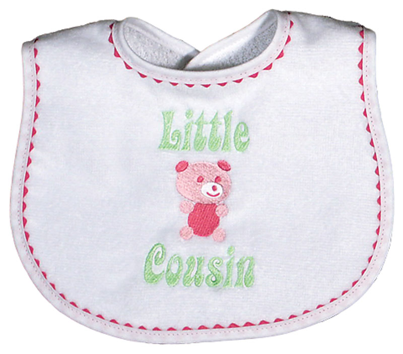 """Little Cousin� Girl Bib"