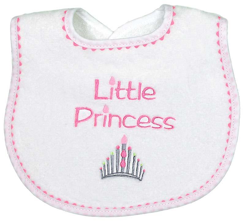"""Little Princess"" Girl Bib"