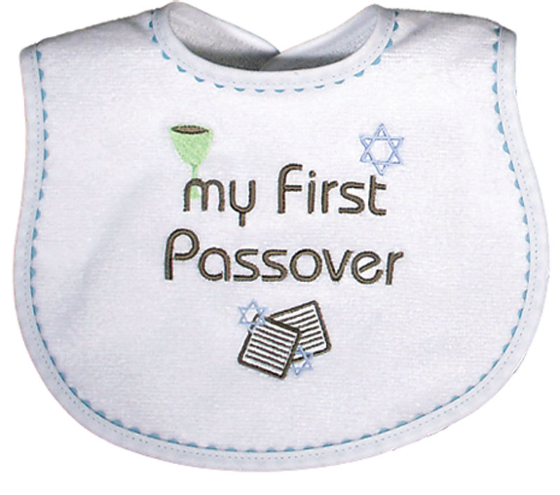 """My First Passover"" Boy Bib"