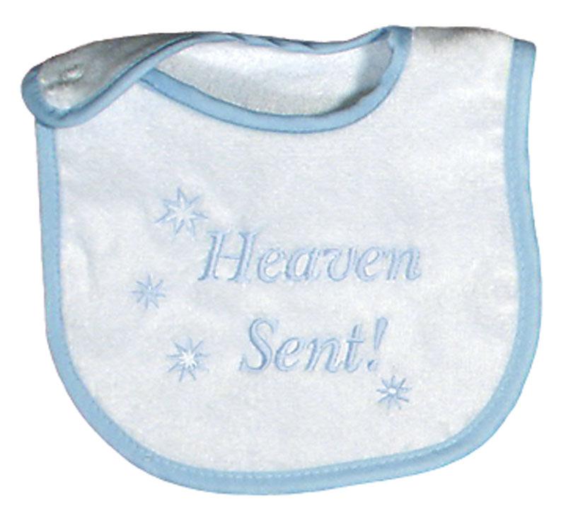 """Heaven Sent"" Boy Bib"