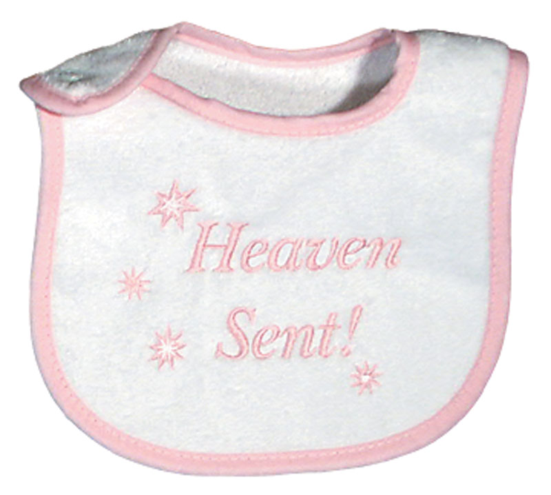 """Heaven Sent"" Girl Bib"