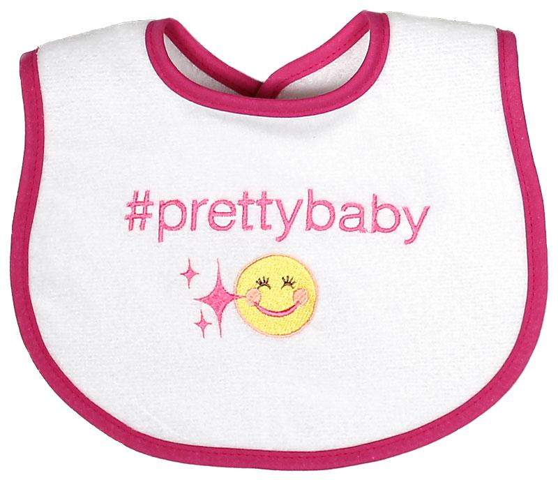 """""""#Prettybaby"""" Girl Bib"""