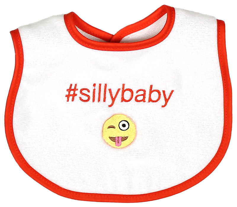 """#Sillybaby"" Unisex Bib"