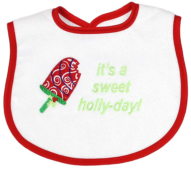 """""""It's a Sweet Holly-day!"""" Bib"""
