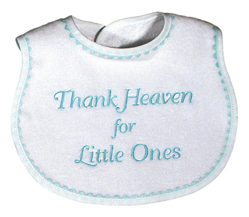 """Thank Heaven for Little Ones"" Unisex Bib"