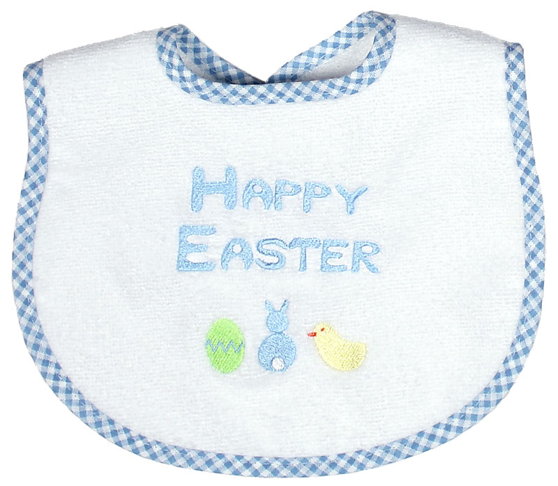 """""""Happy Easter"""" Boy Bib"""