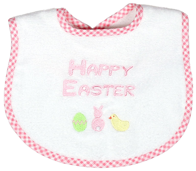 """Happy Easter"" Girl Bib"