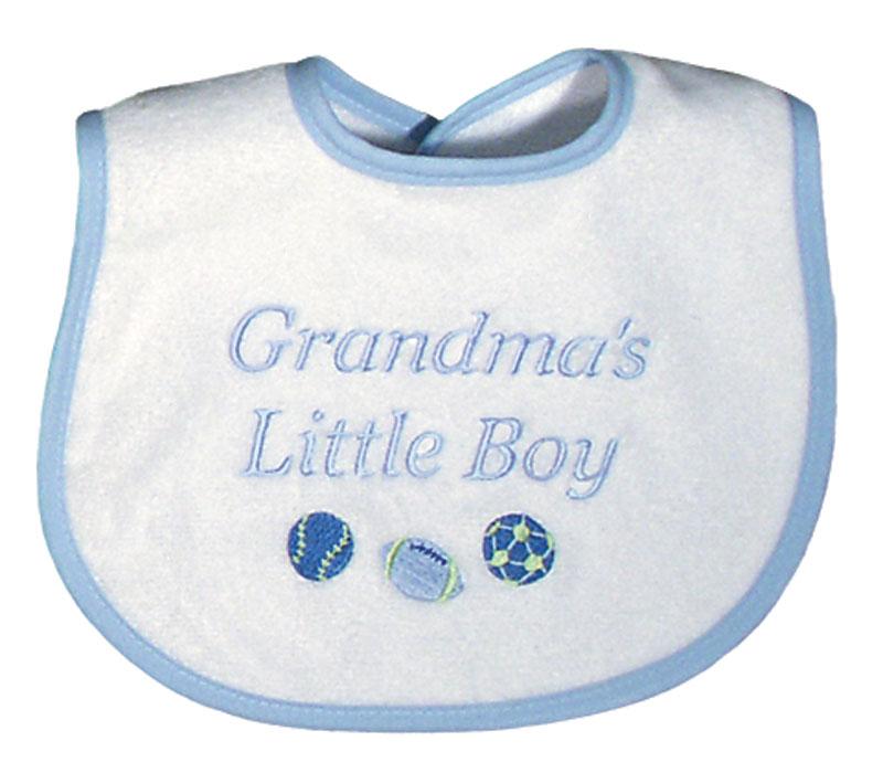 """""""Grandma's Little Boy"""" Bib"""