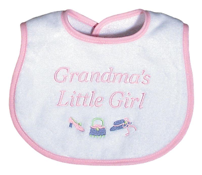 """""""Grandma's Little Girl"""" Bib"""
