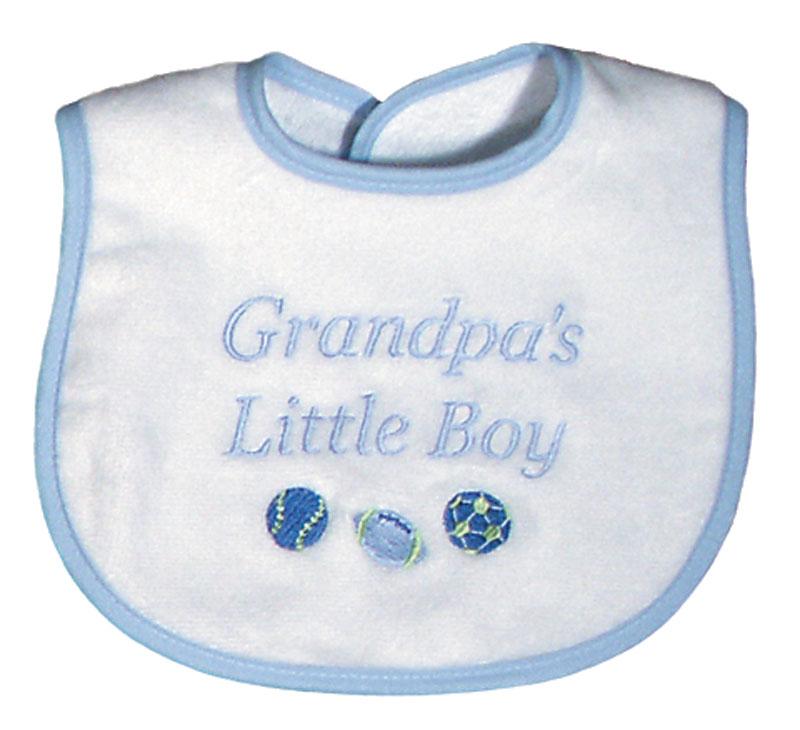 """Grandpa's Little Boy"" Bib"