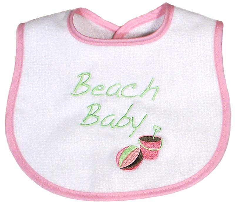 """Beach Baby"" Girl Bib"