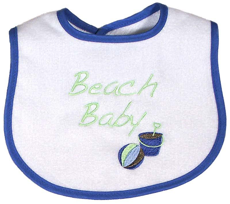 """Beach Baby"" Boy Bib"